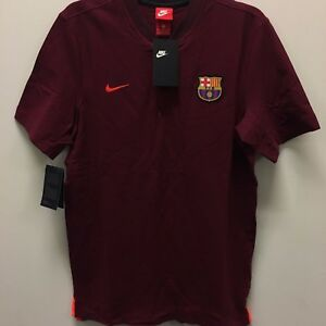 6e5d2faa Nike FC Barcelona Authentic Maroon 2017 2018 Polo Soccer Shirt | eBay