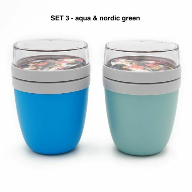 Mepal Lunchpot 2-er Set Ellipse aqua und nordic green Lunchbox