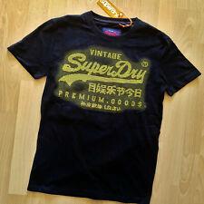 SUPERDRY Herren T Shirt PREMIUM GOODS TEE Men Black NEU