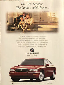 1997 Buick LeSabre PRINT AD Dual Air Bags Peace Of Mind The Family's Safely Home