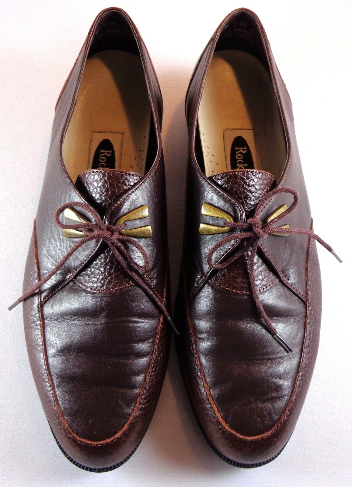 Rockport Oxford para mujer mujer mujer marróns Cuero Con Cordones Zapatos Talla 6 M b59c6c