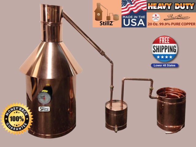 10 Gal Copper Moonshine Still+Thumper+Worm 100% Guarantee Complete Setup!