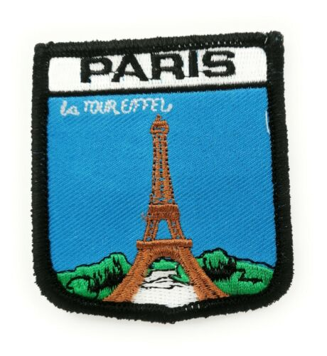 Approx 70mm FREE UK Delivery! PARIS SHIELD Embroidered Sew on Patch