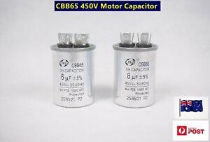 AC 450 V 50 // 60 Hz air conditioner 4 pin 6UF CBB61 motor capacitor
