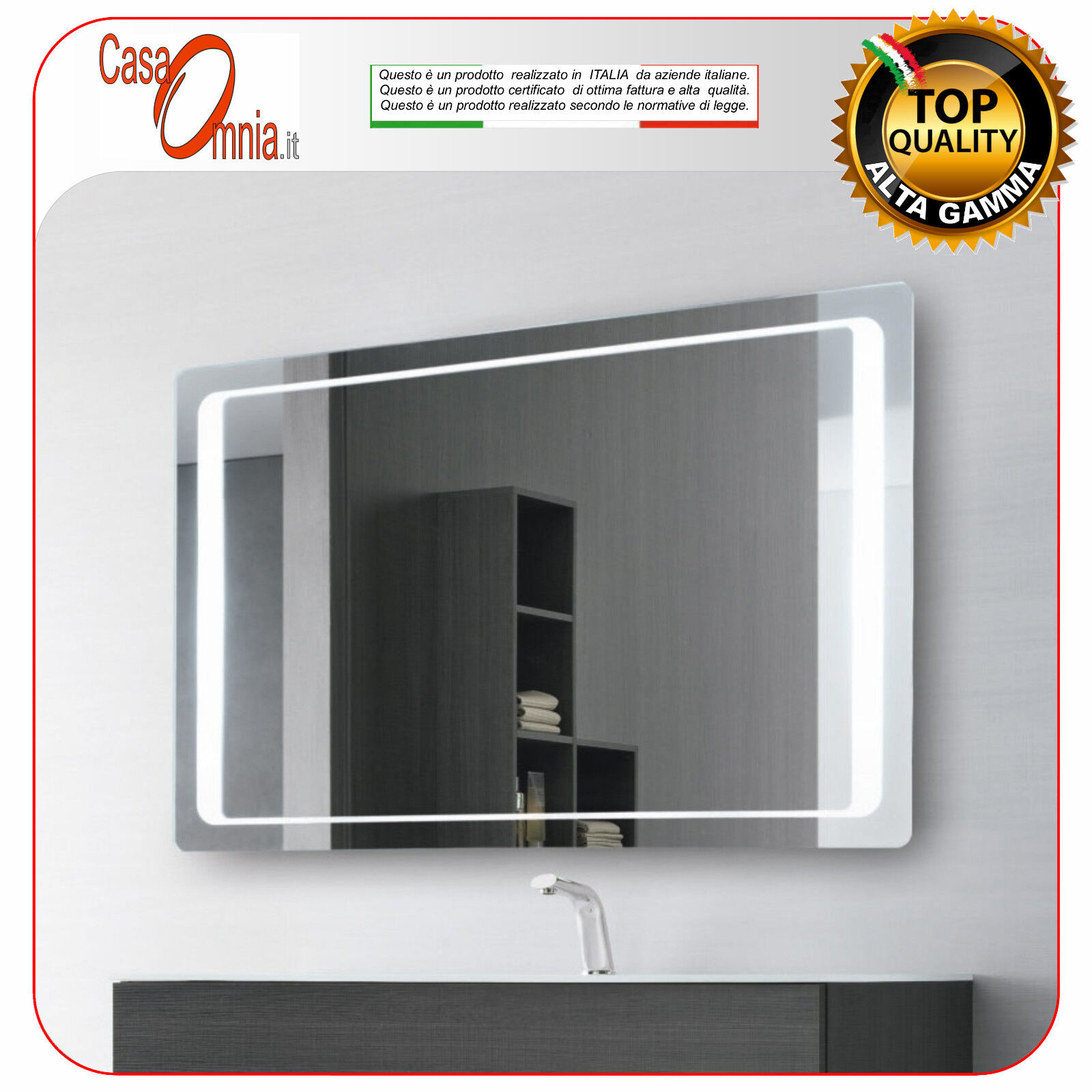 Salle de bain led miroir-kit bleutooth-v&c aquila big