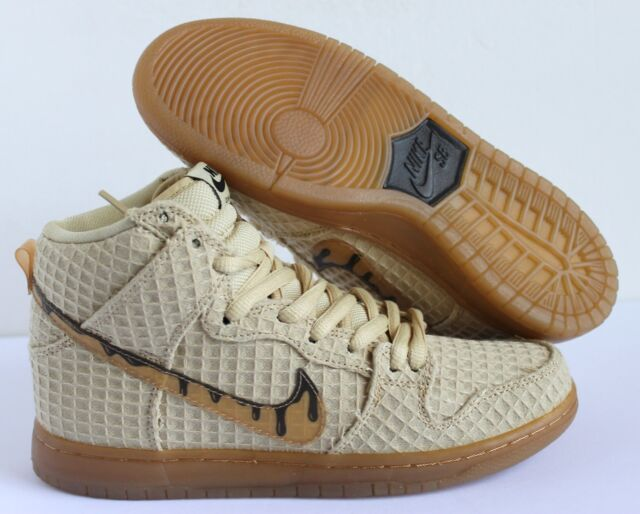 finest selection 3276f 3f981 Nike Dunk High Premium SB Chicken   Waffles Gold   Brown Sz 7 NEW 313171 722