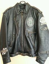 Harley davidson mens Motorcruise  leather jacket vtg distress 97068-04VM RARE XL