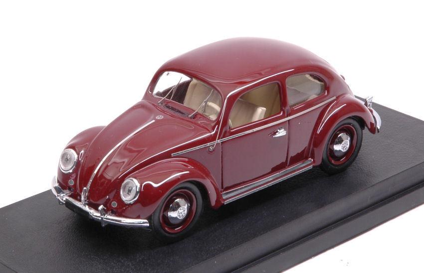 Volkswagen VW Maggiolino 1200 Deluxe 1953 rouge Bordeaux 1 43 Model RIO4565 RIO