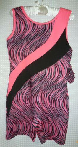 Black /& Gray biketard//Leotard With Matching Scrunchie BNWT Girls Danskin Pink