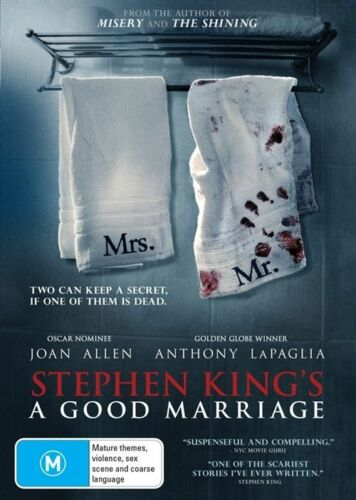 1 of 1 - Stephen King's A Good Marriage (DVD, 2015) THRILLER [Region 4] NEW/SEALED