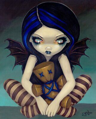 Voodoo In Blue by Jasmine Becket-Griffith Gothic Poster 11x14 FAIRY ART PRINT