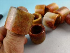 Chinese natural jade carved thumb ring
