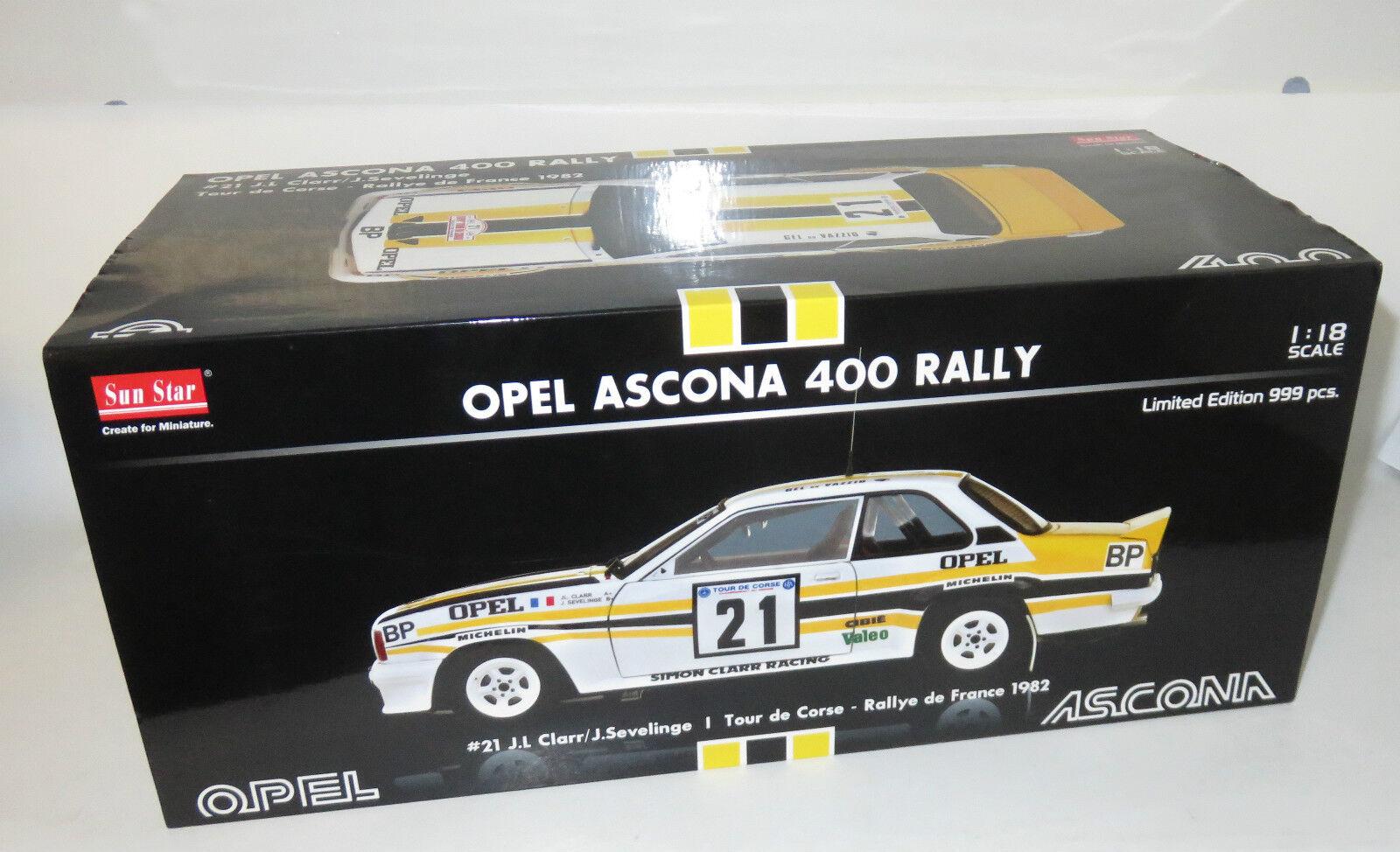 1 18 OPEL Ascona 400 Tour de Corse-Rallye de France 1982 J.L. Clarr