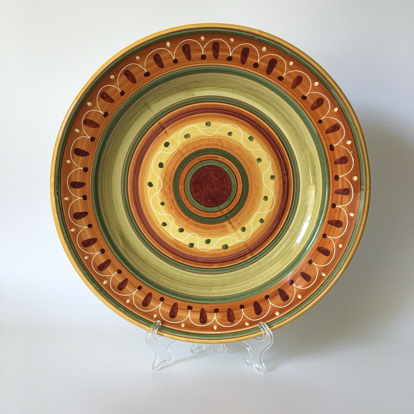 Pier 1 Import Etrusco Round Large Serving Platter Plate 13.75