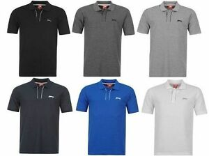 SLAZENGER-POLO-SHIRT-T-SHIRTS-MEN-BOYS-SHORT-SLEEVE-CASUAL-TOP-COOL-DESIGNER