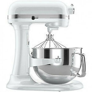 kitchenaid pro 600 rksm6573wh stand mixer 10 speed white. Black Bedroom Furniture Sets. Home Design Ideas