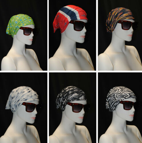 6 pezzi bandana sottocasco foulard sciarpa fantasia bandane cappello estate mare
