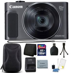Canon-PowerShot-SX620-HS-20-2MP-25X-Zoom-Wifi-Digital-Camera-32GB-Accessory-Kit