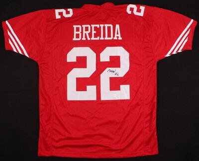 c900b6d12 Matt Breida Signed 49ers Jersey (TSE Hologram) San Francisco 2nd yr Running  Back