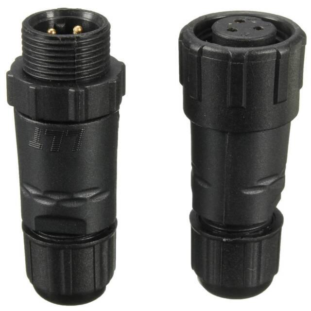 3/4/5/6Pin IP68 Waterproof Grade Electrical Soldering Connector Plug Socket NEW