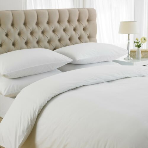 GREAT KNOT EGYPTIAN COTTON 200 TC DUVET COVER ONLY WHITE  SINGLE DOUBLE KING