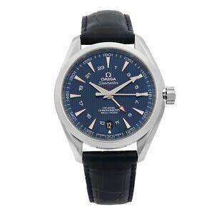 Omega Seamaster Aqua Terra Steel Blue Dial GMT Mens Watch 231.13.43.22.0