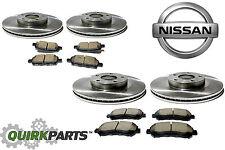 2009-2013 Nissan Maxima Two Front & Rear Rotors w/ Front & Rear Brake Pad Kits
