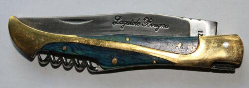 """Laguiole Bougna Taschenmesser /""""Couteau 12 cm Blau/""""Metallverz.Gratis Versand.#130"""