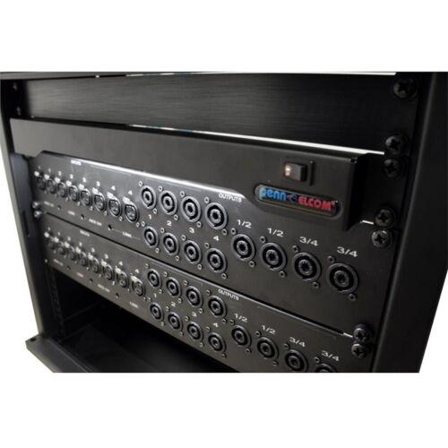 "6500k LEDs Penn Elcom 1U Rack Light for 19/"" Rack Enclosures With 25 Cool White"