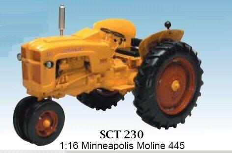 Minneapolis Minneapolis Minneapolis Moline 445 Gas Narrow Vintage Tractor 1 16 Model SPECCAST 52103e