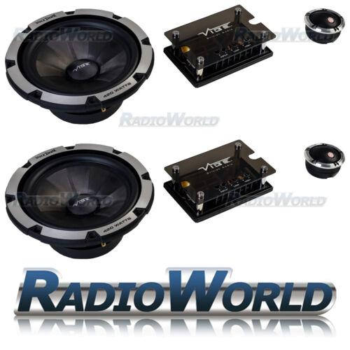 "Componente de muerte Vibe Negro 6 6.5/"" 165 mm 2-way car audio speakers 840 W"