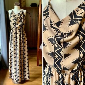 NAMU USA Long Maxi Bohemian Tribal Dress LARGE
