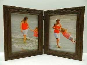 8x10 Brown Barnwood Rustic Weathered Picture Photo Frame Double