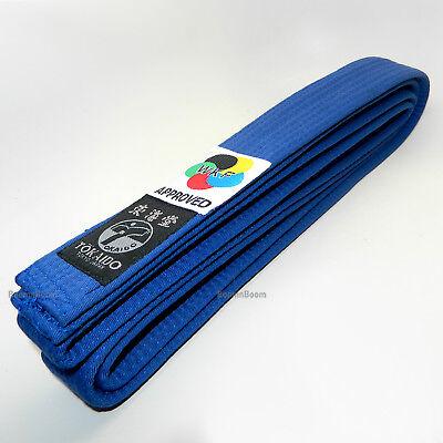 New Tokaido WKF Approved Elite Karate Belt Martial Arts Belt 100/% Cotton-SkyBlue