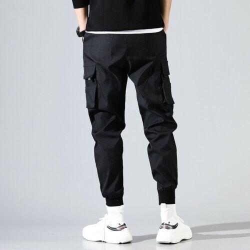 Herrenmode Multi-Taschen Cargo Hose Hip Hop Skinny Freizeithose Latzhose Arbeit