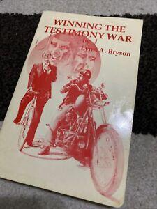 Vintage Winning The Testimony War Lynn A Bryson LDS Mormon Missionary 1982 Book