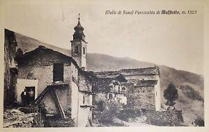 Cartolina-Valle-di-Susa-Parrocchia-di-Maffiotto-1920-ca