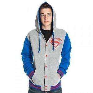 Supereroe Originale Con Comics Letterman Cappuccio Felpa Dc Superman Giacca xTa4q1p