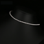 White-Gold-PL-Cubic-Zirconia-CZ-Stretch-Choker-Tennis-Chain-Necklace-Jewellery thumbnail 6