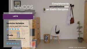 Lofts con Servicios Incluidos y amueblado en barrio Santiago X UPAEP UDES BUAP Centro Historico PUE