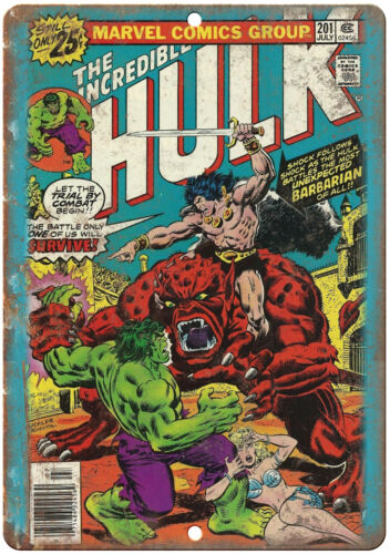"""The Incredible Hulk Marvel Comic Cover Ad 10/"""" x 7/"""" Reproduction Metal Sign J627"""