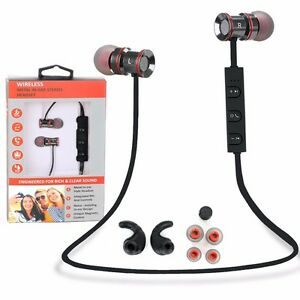 Metal In-Ear Wireless Sports Bluetooth Stereo Headphone Earbuds Headset Earphone