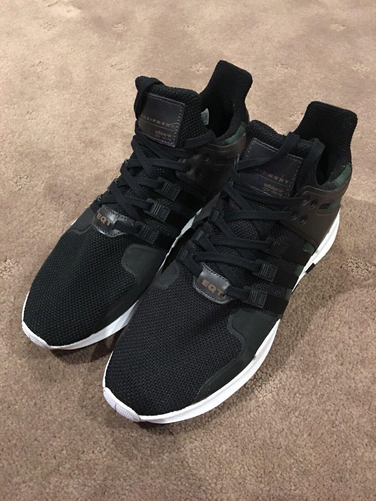 separation shoes 2146a f6d87 adidas originaux eqt soutenir adv chaussures chaussures chaussures noir  blanc taille 11 7f3058