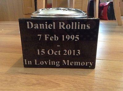 Polished Granite Memorial Flower Vase (unlimited lettering!!) New Colours Added!