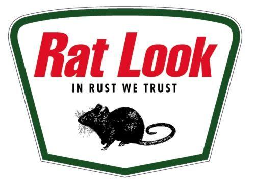 Rat Look Pegatina Hotrod HoodRide Kustom Retro 100 mm de ancho