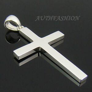 Mens Sterling Silver 925 Simple Cross Pendant Plain for ...
