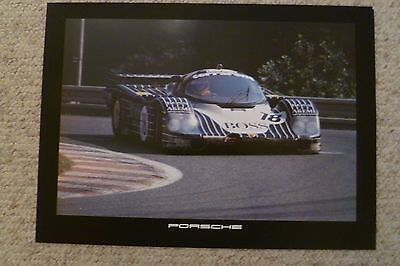 1984 Porsche 956 Race Car Showroom Advertising Sales Poster RARE! Awesome L@@K