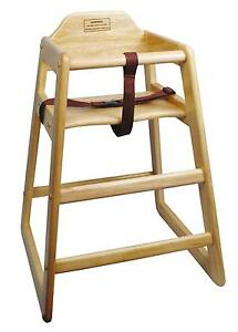 Winco CHH-101 Stacking High Chair - Natural Finish