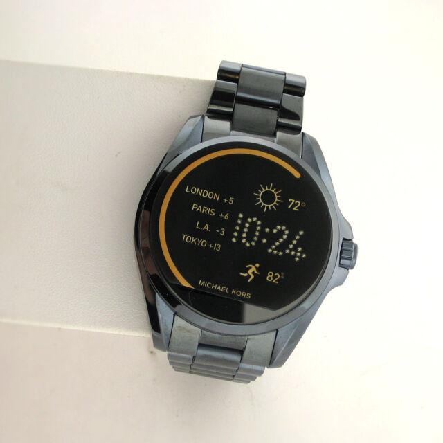 Michael Kors Access Touchscreen MKT5006 Bradshaw Smartwatch Dk Blue Stainless MK