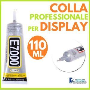 COLLA-E-7000-PER-DISPLAY-RIPARAZIONE-SMARTPHONE-CELLULARI-VETRI-TOUCH-LCD-110ml